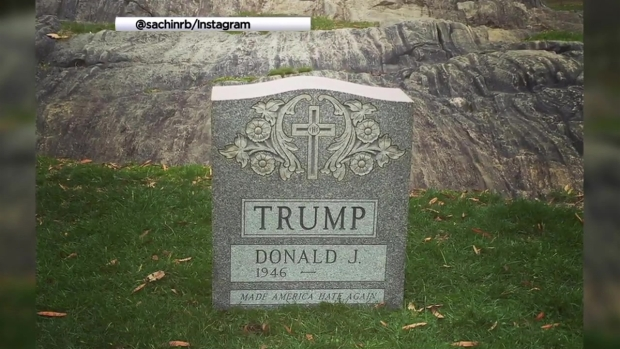 [NY] Trump Tombstone Mysteriously Surfaces in Central Park