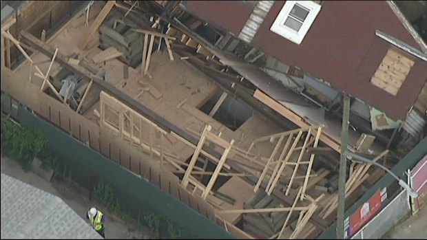 [NY] Chopper 4: House Collapses in Brooklyn