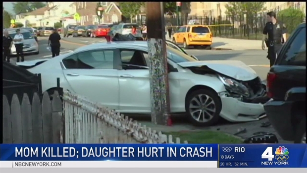 [NY] Mom Killed, Daughter Critically Injured in Queens Crash That Caused Pileup