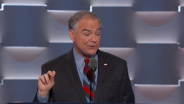 Tim Kaine Delivers Speech on Day 3 of DNC