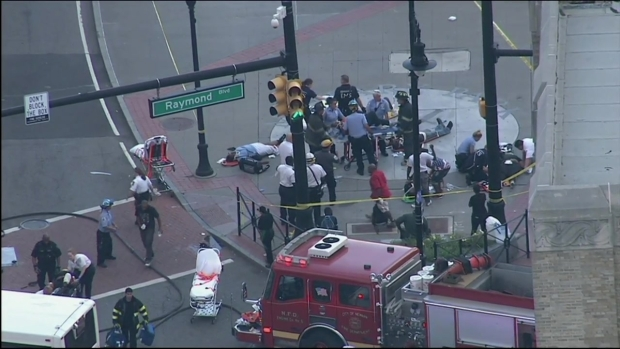 [NY] Chopper 4 Over Scene of Horrific NJ Transit Bus Collision