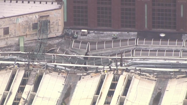 Helicopter Footage Shows Wreckage at Hoboken Terminal