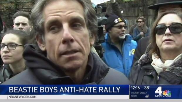[NY] Ben Stiller, Beastie Boys at Anti-Hate Rally in Brooklyn