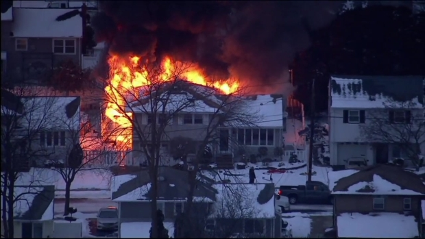 [NY] Fire Blazes in New Jersey House