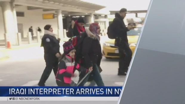 [NY] Iraqi Interpreter, Family Arrive in U.S.