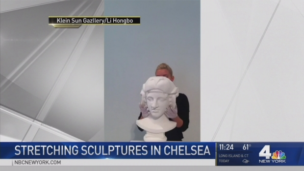 [NY] Mindboggling Bust Sculptures Stretch, Twist at NYC Gallery