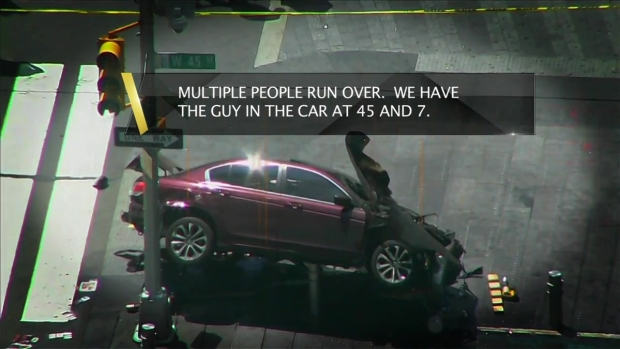 Police Audio Captures Times Square Crash Panic