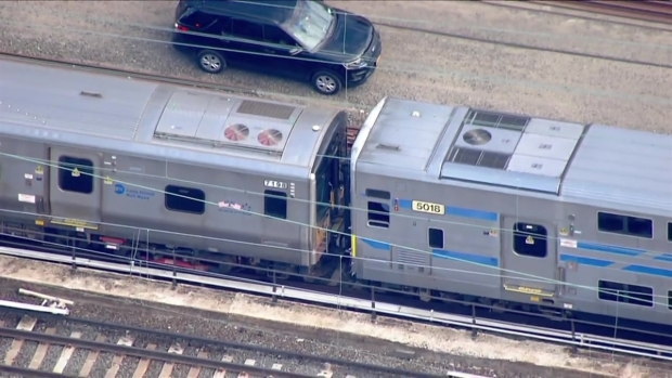 Chopper 4 Shows Stranded Riders Transfer to Rescue Train