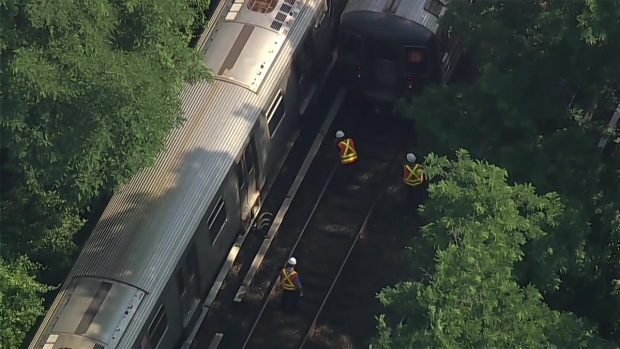 Chopper 4 Over Brighton Beach Train Derailment
