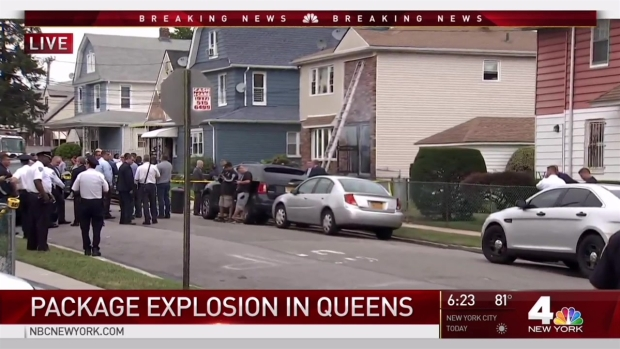 Mysterious package blows up a house in Queens