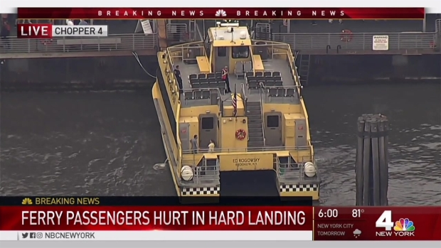 [NY] At Least 30 Hurt When Ferry Makes Hard Landing in NYC