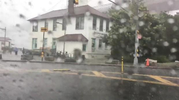 Raw Footage: Midsummer Hail Hits NYC