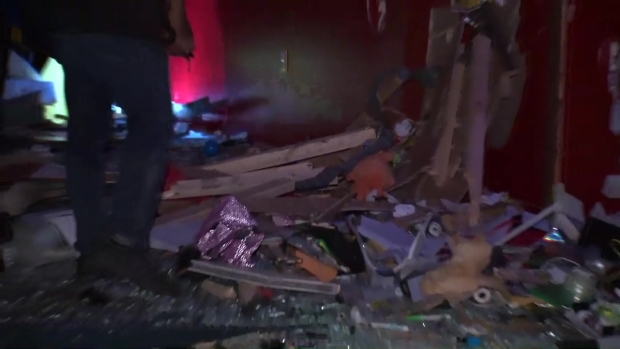 [NY] Raw Video Shows Destruction After Car Crashes Into Kids Party Center