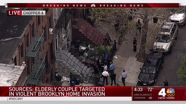 Violent home invasion in Brooklyn leaves one elderly man dead, woman injured