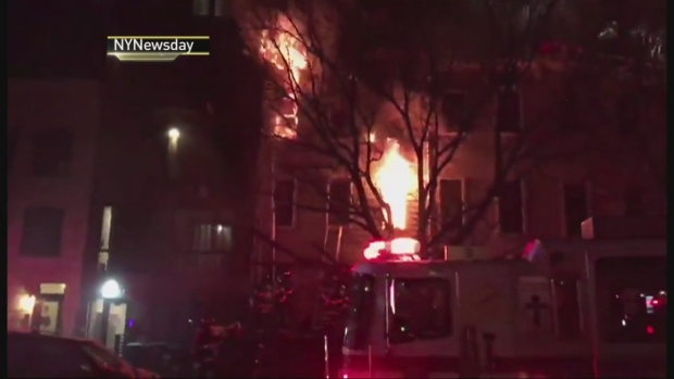 Three Firefighters, One Officer Injured During Crown Heights Blaze