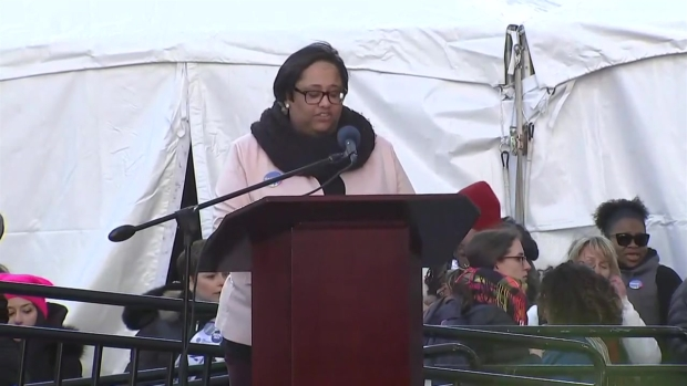 Ashley Bennett's Rousing Speech at the NYC Women's March