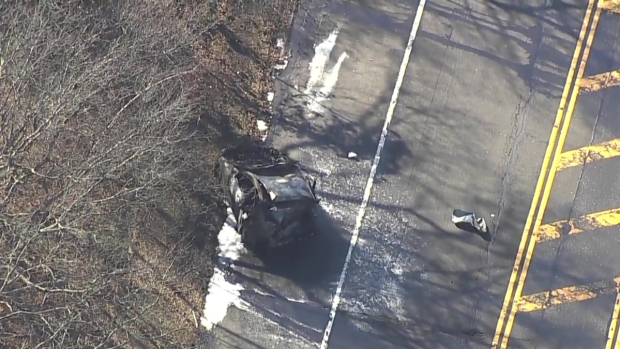 [NY] Chopper Over Deadly Crash on Long Island