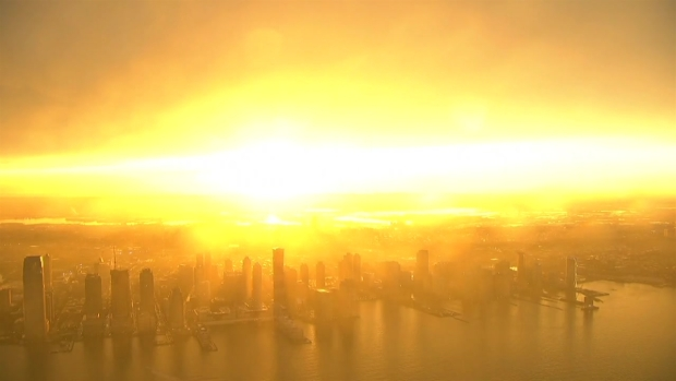 Incredible Post-Storm Sunset From 1 World Trade Center