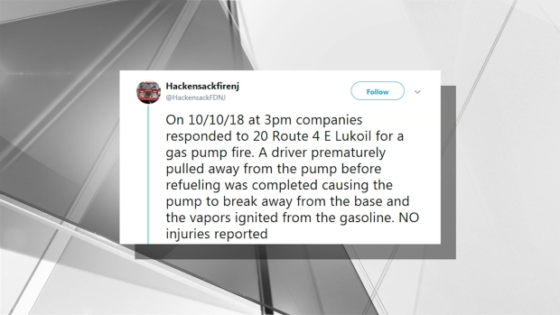 [NY] Gas Pump Fire in Hackensack