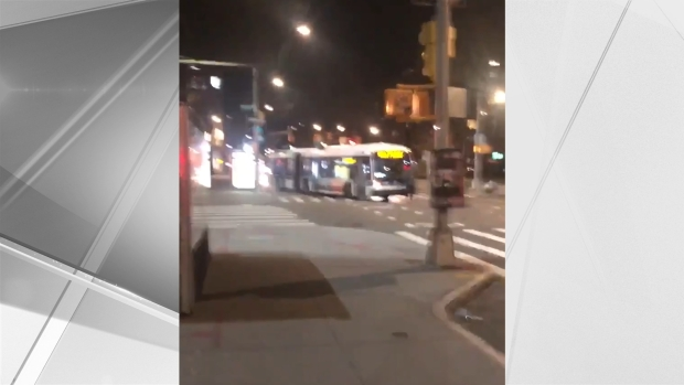 Angry Man Attacks MTA Bus