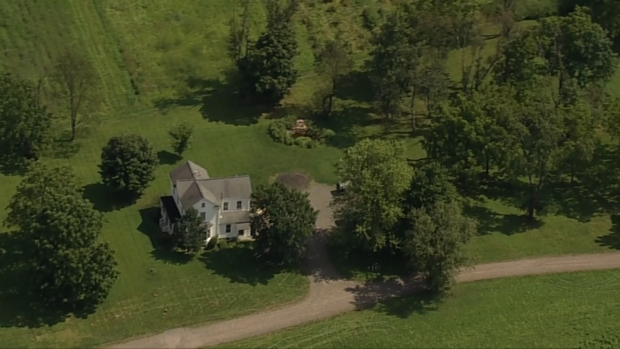 [NY] Chopper 4 Shows Olympian's Sprawling Property Where Woman Was Shot