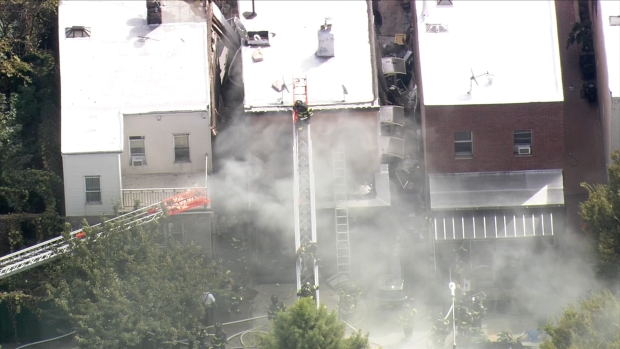 [NY] Smoke Billows From Brooklyn Home After Explosion