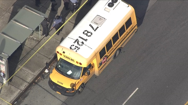 [NATL NY] Chopper 4 Shows Flood of Law Enforcement Respond to Gunfire Near NYC School