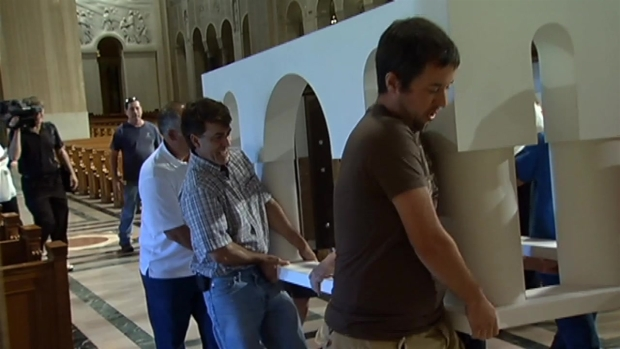 Altar for Pope Francis Delivered to Basilica