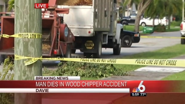 [MI] Man Dies After Falling Into Wood Chipper