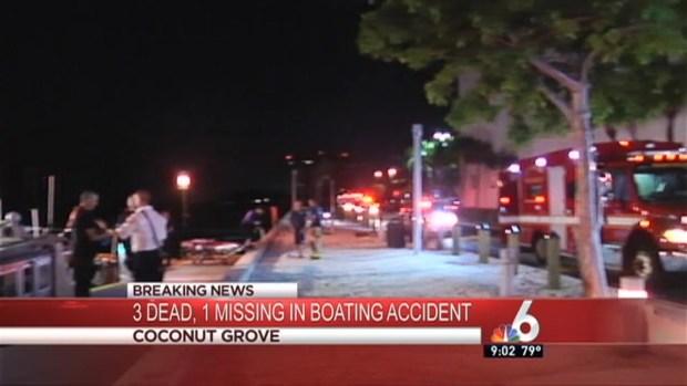 [MI] 3 Dead, 1 Missing After Boat Accident Near Dinner Key Marina