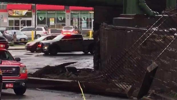 Wall Collapses Underneath Gowanus Expressway