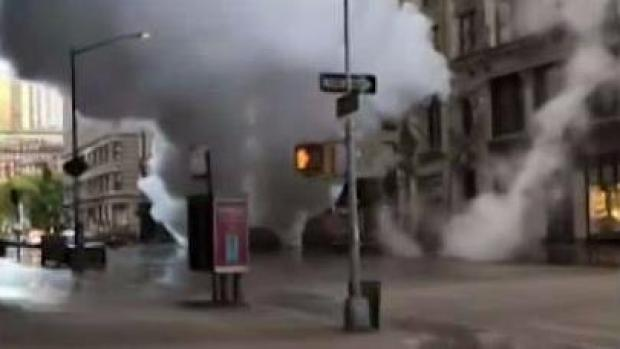 Witnesses Reeling After Terrifying Steam Pipe Explosion