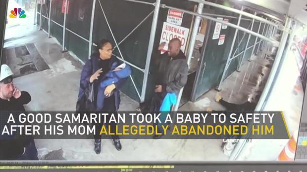 [NY] Good Samaritan Hands Over Abandoned Baby in Surveillance Footage