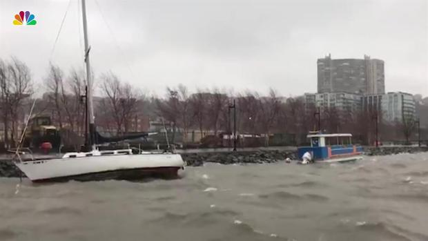 Boat Breaks Free, Smashes on Rocks and Sinks in NJ Cove