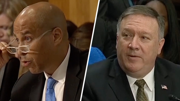 Booker Questions Pompeo on Gay Marriage Stance