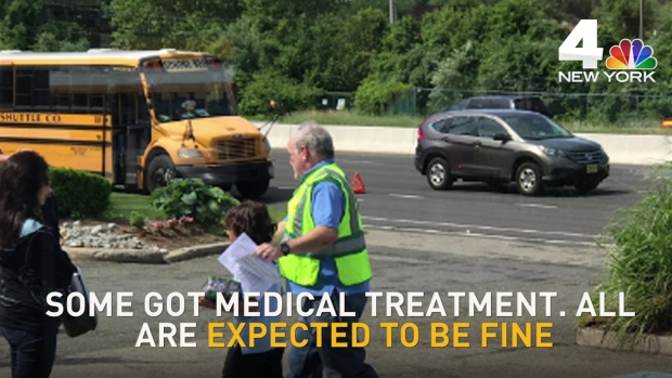 Kids Being Evaluated After School Bus Accident on New Jersey Highway