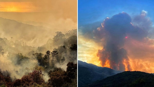 Photos: 'Cave Fire' Forces Evacuations in Santa Barbara County