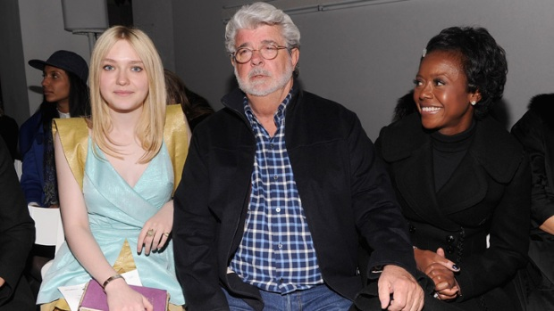 One Shot: Dakota Fanning and George Lucas Sit Front Row at Rodarte