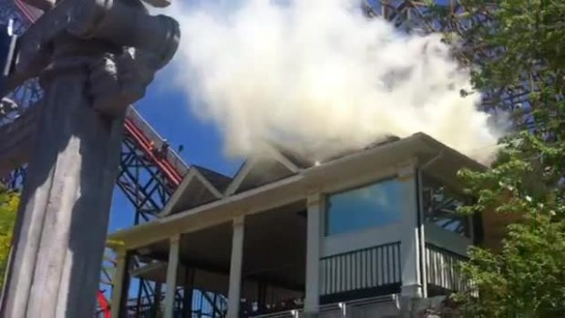 Caught on Camera: Small Fire at Six Flags Great America