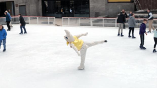 [NY] Easter Bunny Hits the Ice Rink