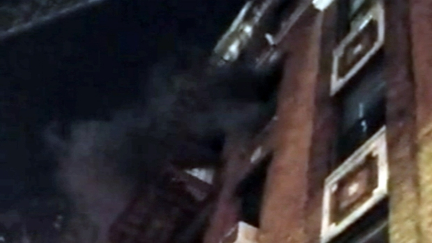 Footage Shows Black Smoke Pouring from NYC Apartment
