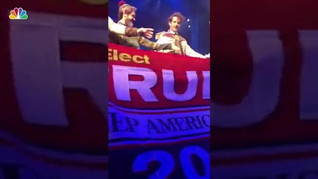 [NY] Trump Flag Snatched at 'Frozen' Musical
