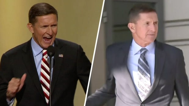 [NATL] 'Lock Him Up': Scene of Flynn's Exit a Throwback to 2016 'Lock Her Up' Speech