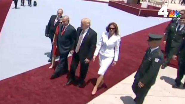 Melania Trump Appears to Swat Away Husband's Hand