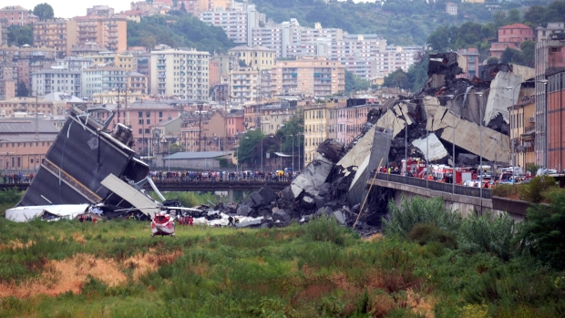[NATL] Top News Photos: Deadly Italy Bridge Collapse