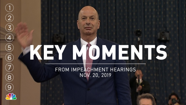 [NATL] Key Moments From Impeachment Hearings With Gordon Sondland, Laura Cooper