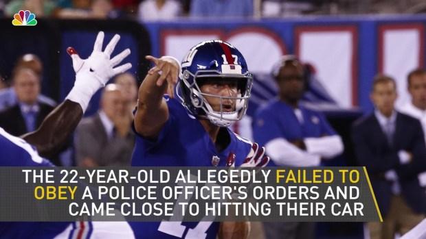 [NY] NY Giants Backup QB Arrested on Way to Practice