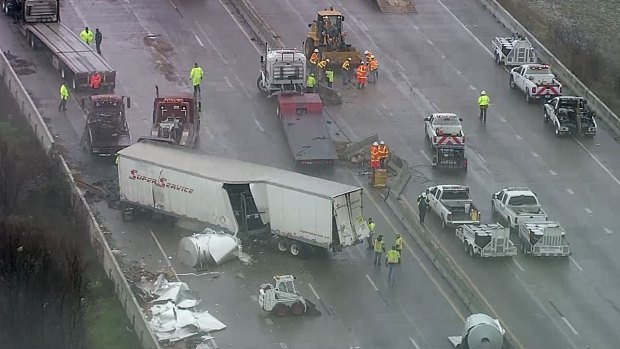 [DFW] Massive Crash Closes I-30 Over Lake Ray Hubbard