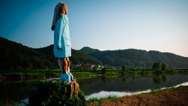 [NATL] Melania Trump Statue Unveiled in Her Native Slovenia