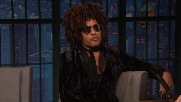 [NATL] 'Late Night': Lenny Kravitz Wore the Same Outfit for 30 Days